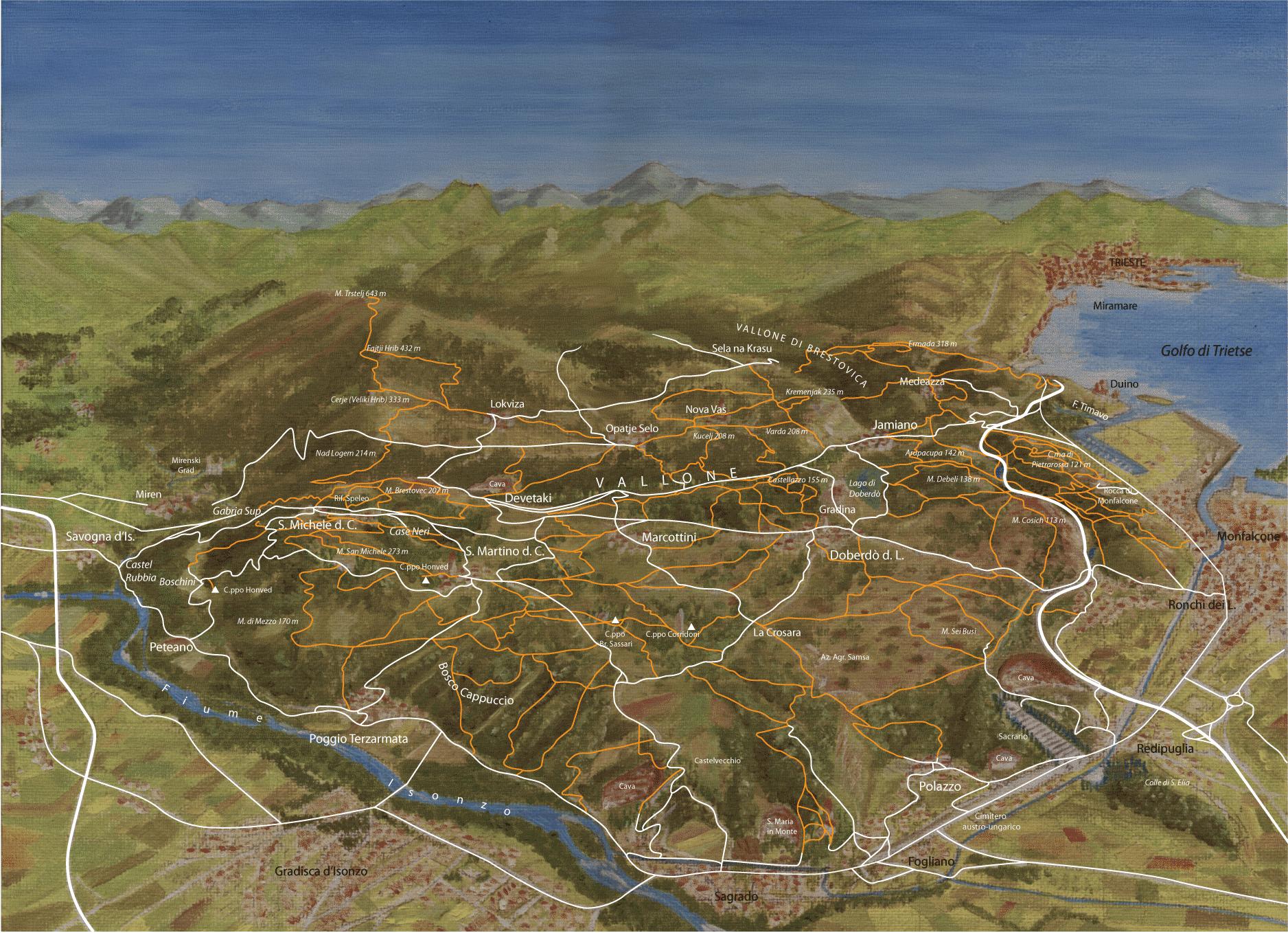 Mappa zona carsica