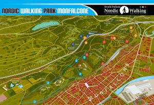 Veduta del Nordic Walking Park MOnfalcone